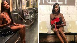 Naomi senza veli in metropolitana: così Valentino celebra i 50 anni della sua