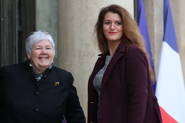 Marlène Schiappa, ici à l'Élysée à Paris le 15 janvier