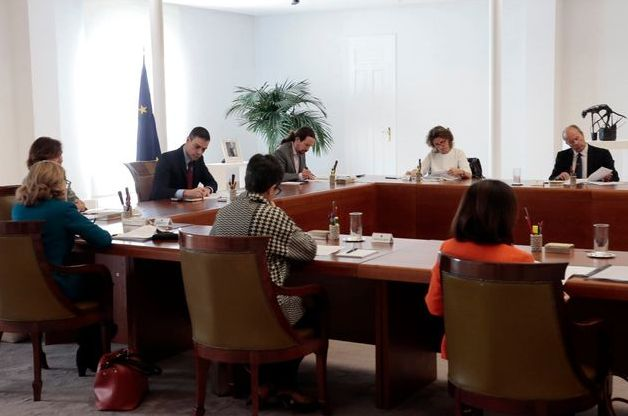 Reunión del Consejo de Ministros en el que se declaró el estado de alarma el 14 de