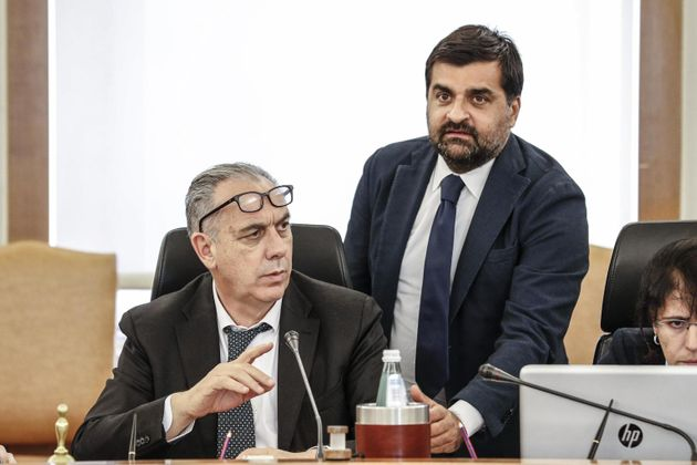 Giovanni Legnini - Luca Palamara ANSA/GIUSEPPE