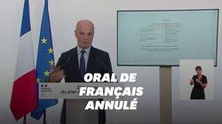 Le bac oral de français n'aura pas lieu et sera validé par les notes de contrôle
