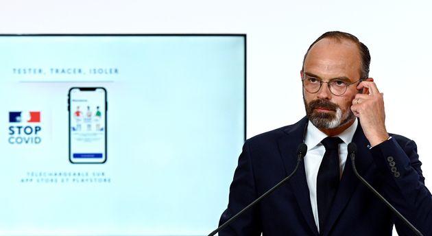 Édouard Philippe détaillant la phase 2 du déconfinement jeudi 28