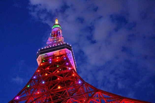 緊急事態宣言の全面解除後の東京タワー