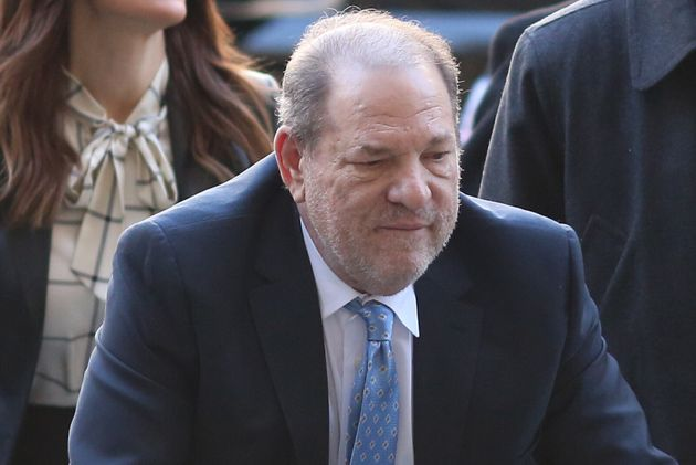 Harvey Weinstein arrives at Manhattan Criminal Court with his attorneys on Feb. 24, 2020. (Alec Tabak/New...