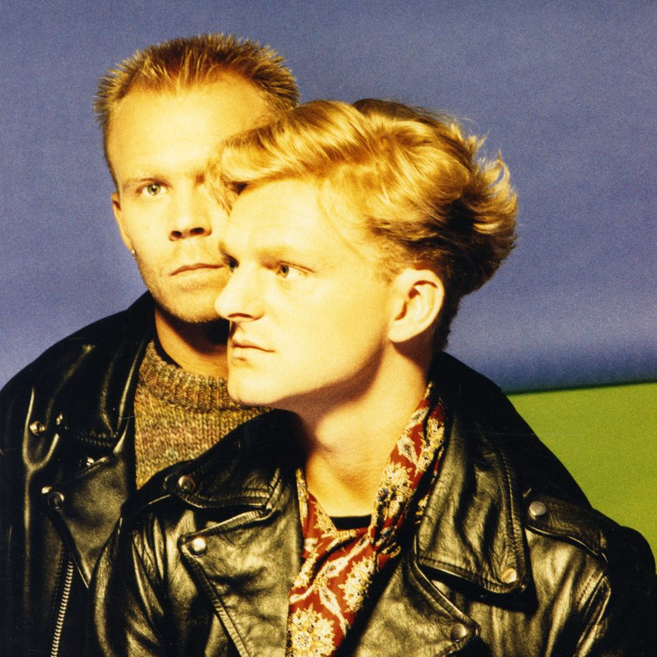 Andy Bell with bandmate Vince Clarke at the height of their Erasure