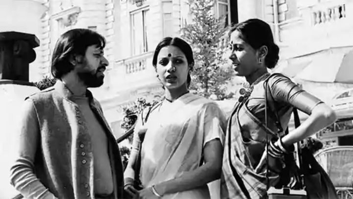 Shyam Benegal, Shabana Azmi and Smita Patil at the Cannes film festival in 1974