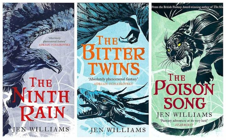 'The Winnowing Flame' series by Jen Williamsfeatures a determined female scientist, a dying race and imprisoned witches.