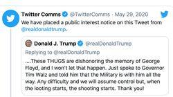 Twitter signale qu'un tweet de Trump fait la «glorification de la
