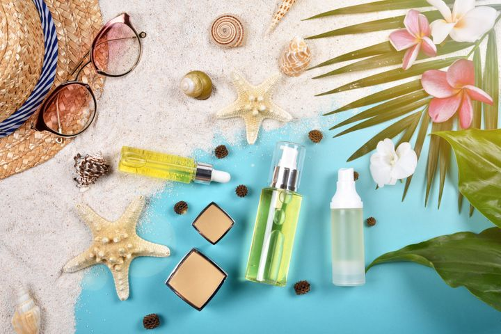 Cut back on your use of facial oils and heavy foundations to prevent breakouts in the heat.