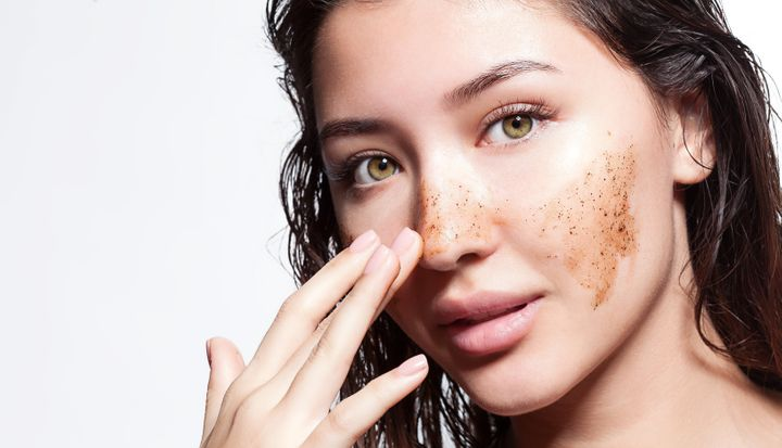 Exfoliating is an important part of any at-home facial.