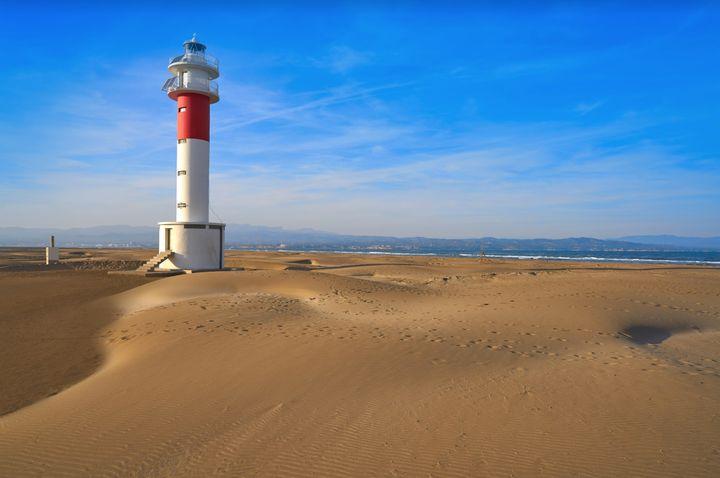 Punta del Fangar, junto al Delta del Ebro (Tarragona).