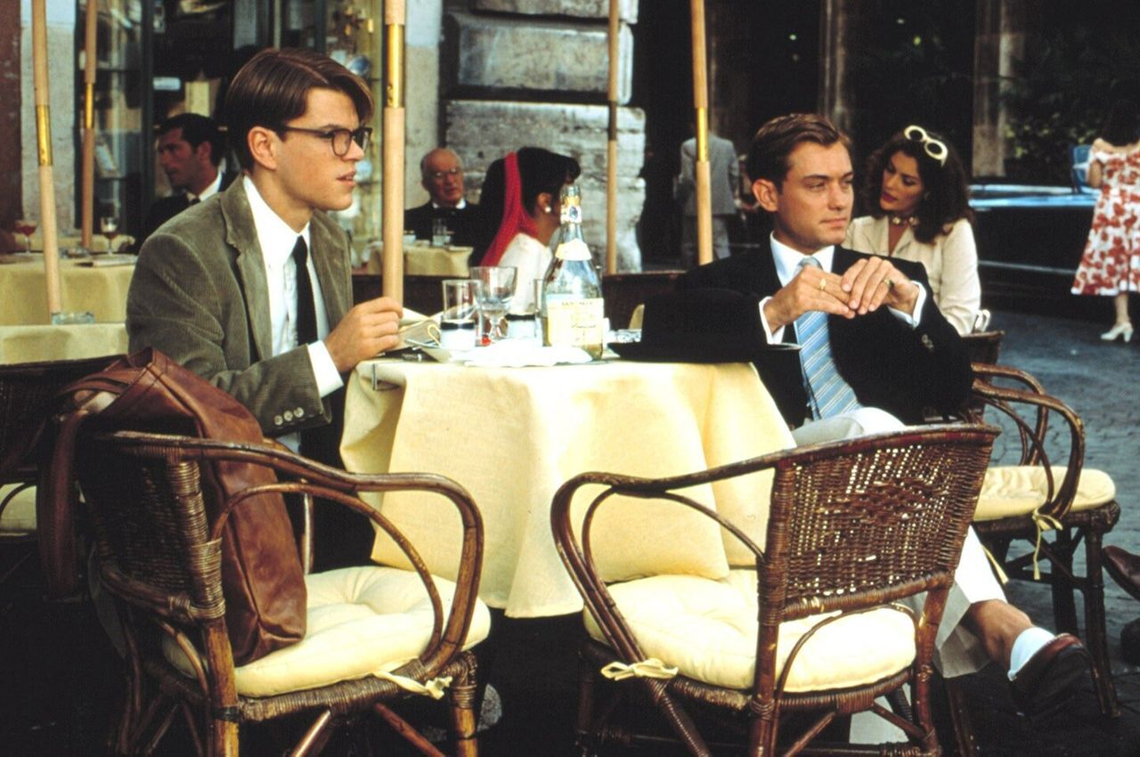 "Matt Damon and Jude Law in ""The Talented Mr. Ripley."""