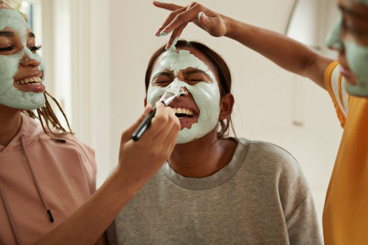 Applying a face mask can restore and hydrate the skin — and is a small, easy act of self-care.