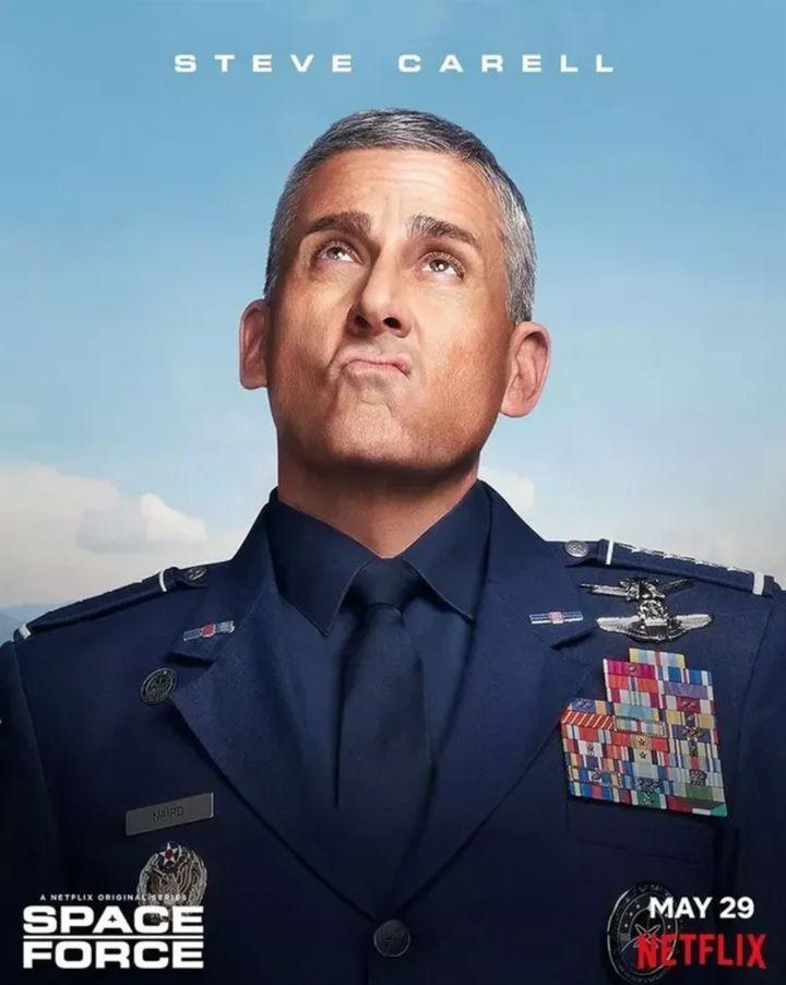 Steve Carell interprétant le général Naird dans «Space Force».