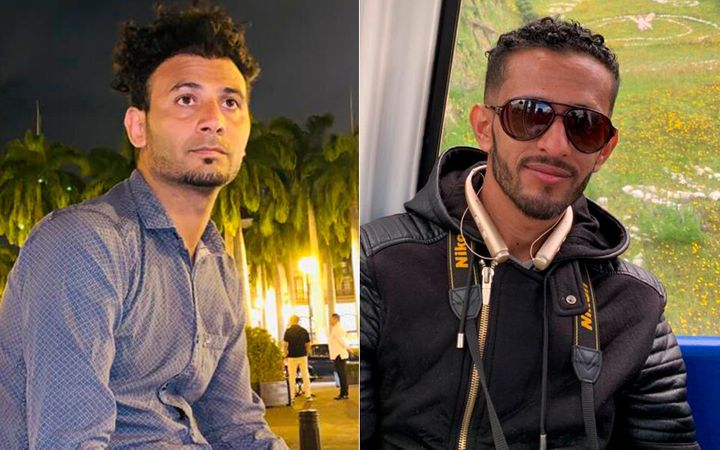 Osamah Mahyoub, left, and Emad Al-Azabi, right, have been detained since November 2019 and have been fighting to prove their
