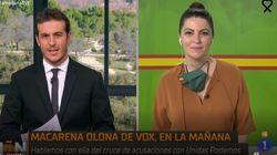 Diego Losada le lanza una pulla a Macarena Olona (Vox) y ella responde: