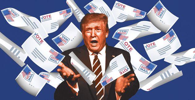 Donald Trump, avant l'élection présidentielle américaine, enrage contre le vote par
