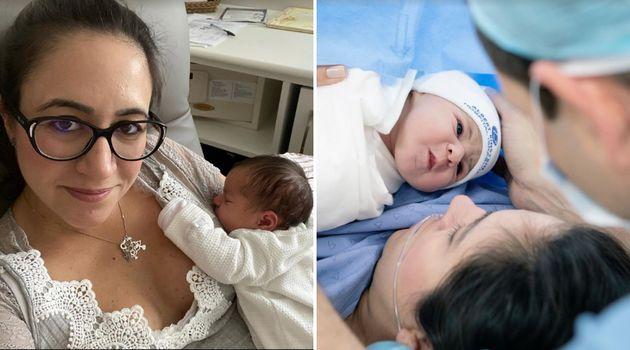 Cristina Junqueira, cofundadora do Nubank, com a filha