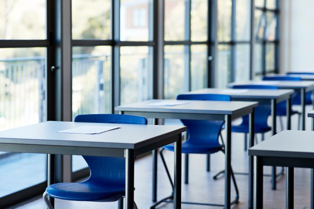 Expect desks to be spaced out and a lot less students when physical classrooms