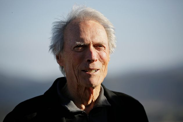 Clint Eastwood stands on the 18th green of the Pebble Beach Golf Links during the awards ceremony of...