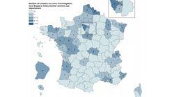 Où se trouvent les 109 foyers d'infection repérés en