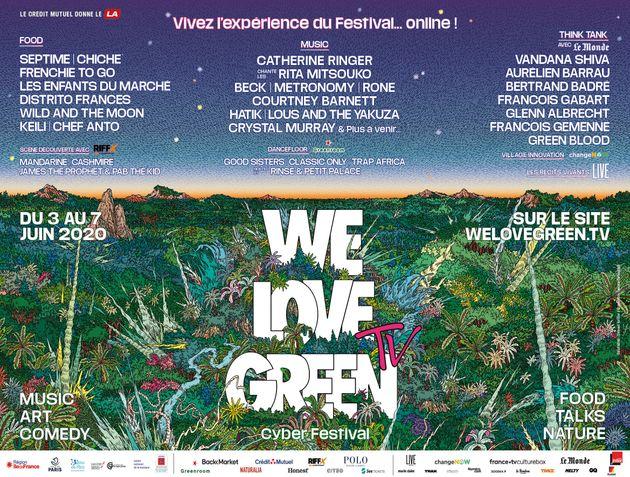 L'édition digitale de We Love Green se déroulera du 3 au 7