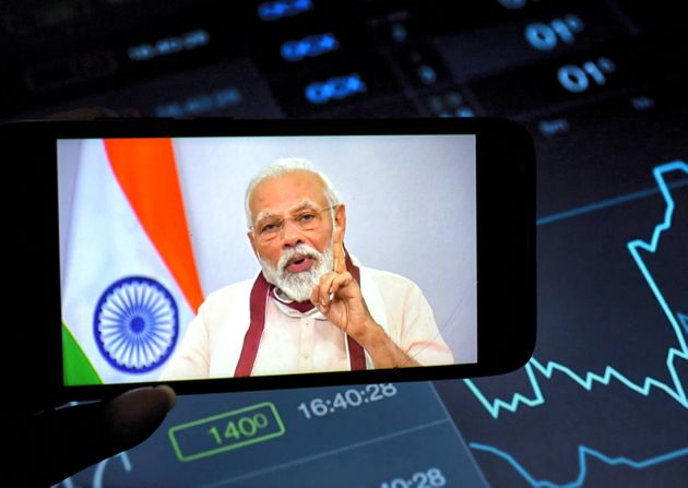 Indian Prime Minister, Narendra Modi speaking to the Nation about Covid19 crisis on 12 May,