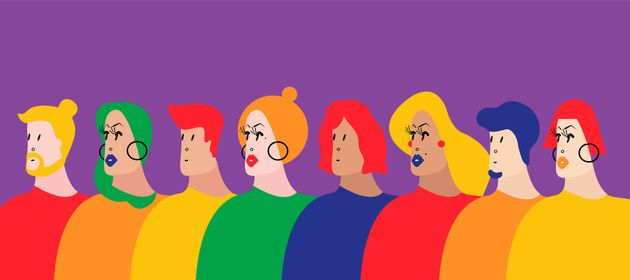 Colorful group of people vector