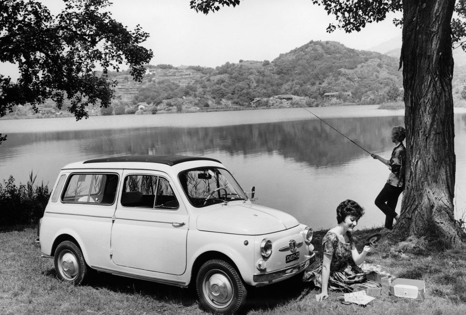 Fiat 500 Giardiniera, c1962. Introduced in 1960, this was an estate version of the 497cc-engined Fiat...