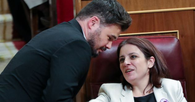 Gabriel Rufián (ERC) y Adriana Lastra