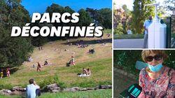 Aux Buttes-Chaumont, la joie des Parisiens (et les tentatives de gestes