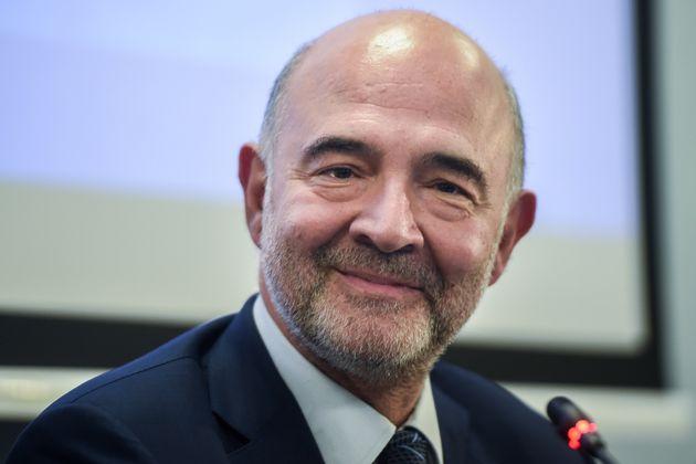 Pierre Moscovici, ici lors d'une conférence de presse à la représentation de la...