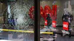 Ζημιές στα κεντρικά του CNN κατά την διάρκεια διαδηλώσεων για τον