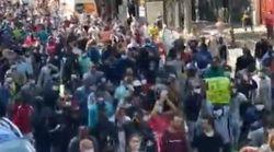 Manifestation à Paris pour la régularisation des sans-papiers, 92
