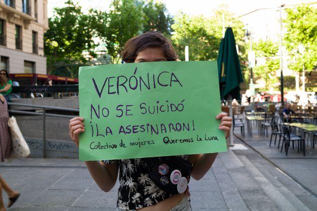 Imagen de archivo de una concentración en homenaje a Verónica Rubio y para pedir justicia...