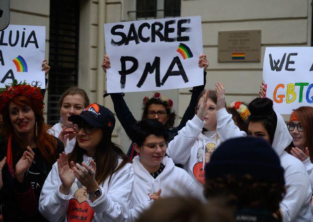 Une manifestation en faveur de la PMA, le 19 janvier 2020 à