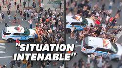 À New York, une voiture de police fonce dans un groupe de