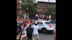 La polizia di New York investe i manifestanti durante le proteste per George Floyd