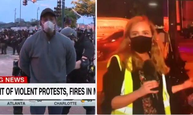 Negli Usa i giornalisti che seguono le rivolte sono sotto at