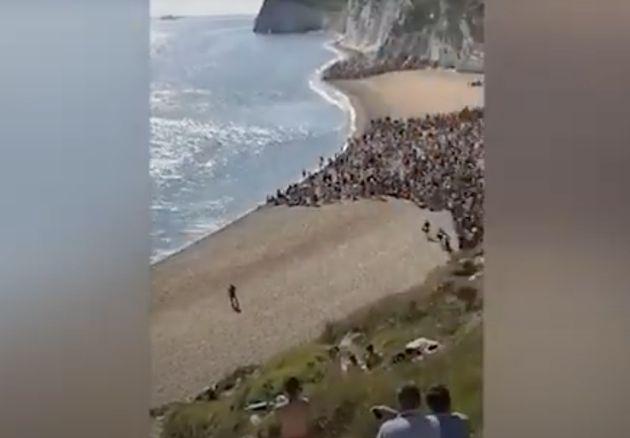 Playa de Durdle Door, en Dorset, al sur de
