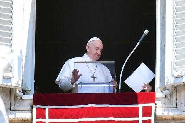 31/05/2020 Citta' del Vaticano. Piazza San Pietro. Angelus Regina Caeli, fase 2 Coronavirus nel periodo...