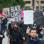 Une manifestation en soutien à George Floyd à Montréal