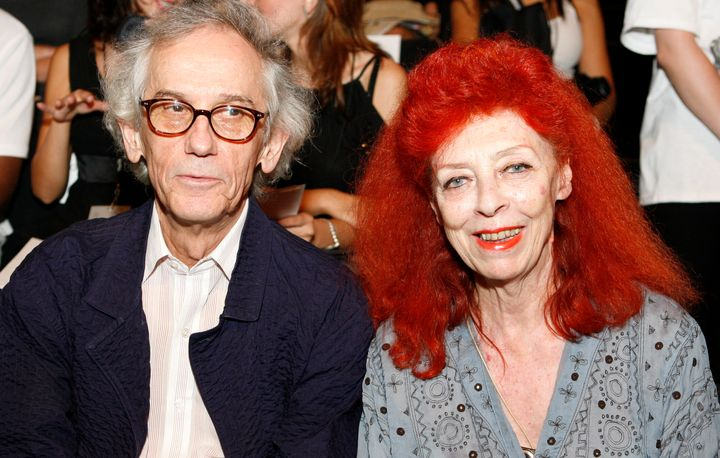 Installation artist Christo, left, and his wife Jeanne-Claude in 2007. The couple frequently collaborated on large scale