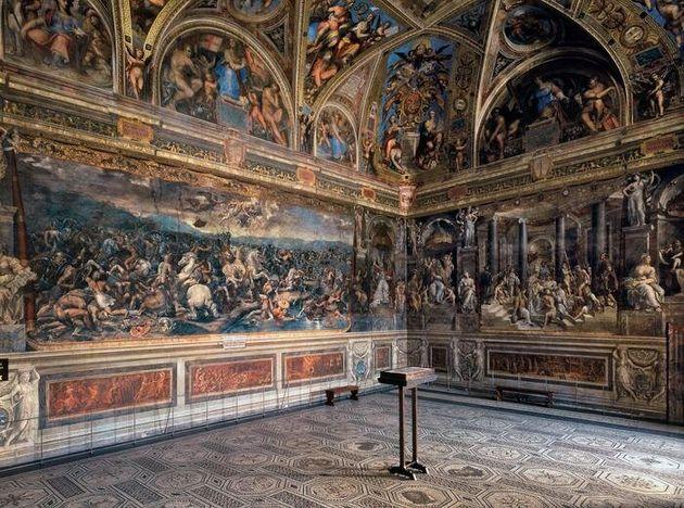 Il restauro della sala di Costantino, un