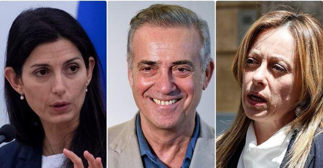 Virginia Raggi, Massimo Ghini e Giorgia