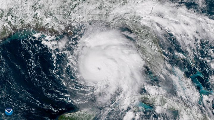 Hurricane Michael is seen in the Gulf of Mexico in 2018.It was the first Category 5 storm to make landfall in the U.S. since Hurricane Andrew in 1992,and only the fourth on record.