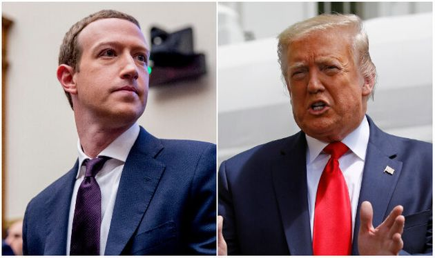 Mark Zuckerberg et Donald Trump (Photos: Associated