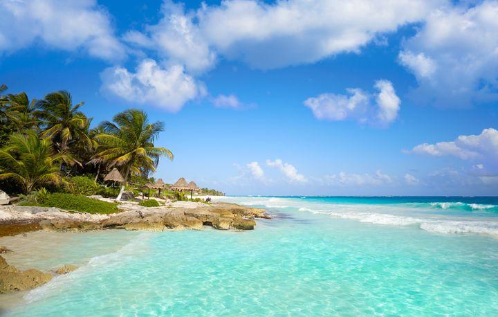 Η παραλία Τουλούμ στην Ριβιέρα Μάγια του Μεξικό.