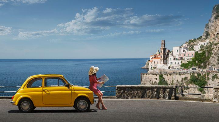 Το χωριό Ατράνι στην ακτή Αμάλφι της Ιταλίας.