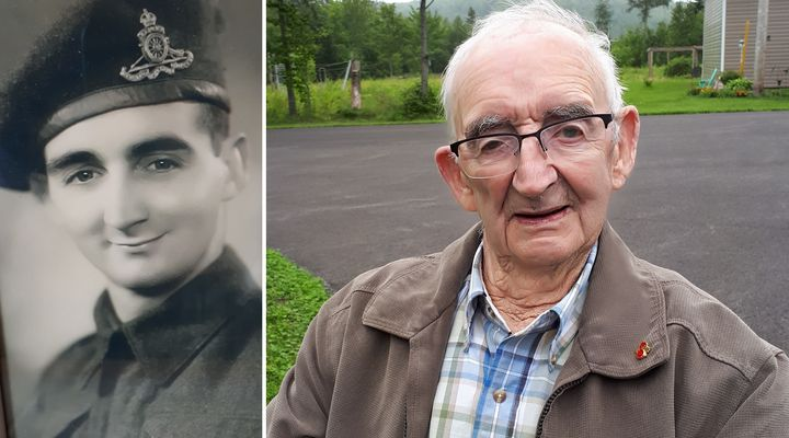 Ken Newell enlisted in the Canadian military to fight in the Second World in 1941. Pictured in August 2019 on the right, he currently lives in Saint John, N.B.